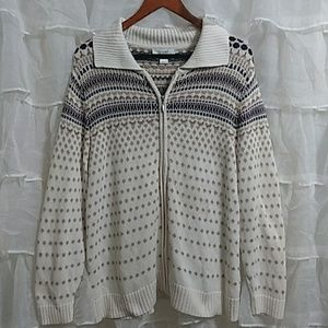 CJ BANKS Cotton Zip Up Cardigan 1X